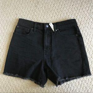 NWT Madewell High-rise Denim Shorts | Washed Black
